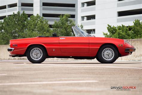 Alfa Romeo Houston by 1971 Alfa Romeo Spider Driversource Motorcars