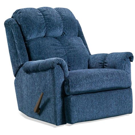 tufted recliner chair tufted rocker recliner chair tahoe blue fabric dcg stores