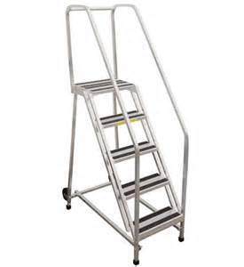 Rolling Stair by Pw Platforms Inc Aluminum Rolling Ladder