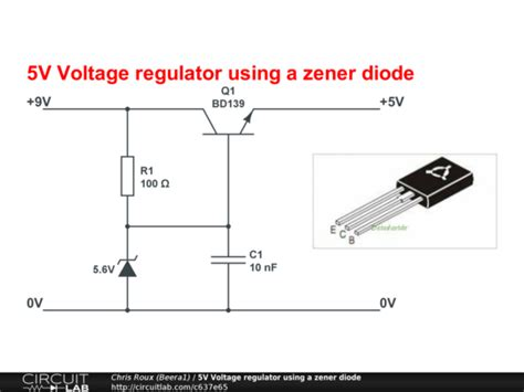 how does a zener diode voltage regulator work 5v voltage regulator using a zener diode circuitlab