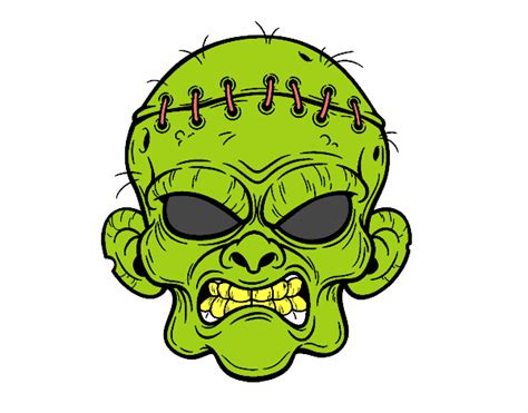 imagenes de halloween en español dibujo de cara de zombie pintado por tilditus en dibujos