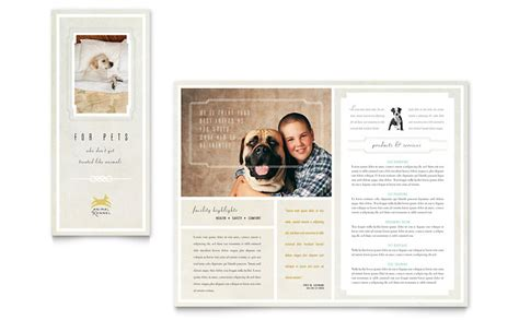 Pet Hotel & Spa Brochure Template   Word & Publisher
