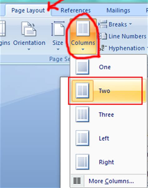 microsoft word two column layout how to make columns in word word processing tips