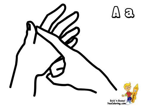 English Sign Language Printables Eden Escape Sign Language Coloring Pages
