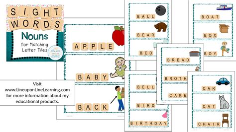 letter tiles sight words nouns templates line upon line