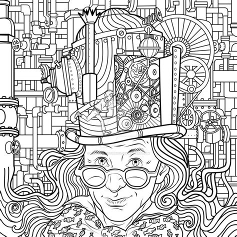 Charlie And The Chocolate Factory By Leobrownstudios On And The Chocolate Factory Colouring Pages
