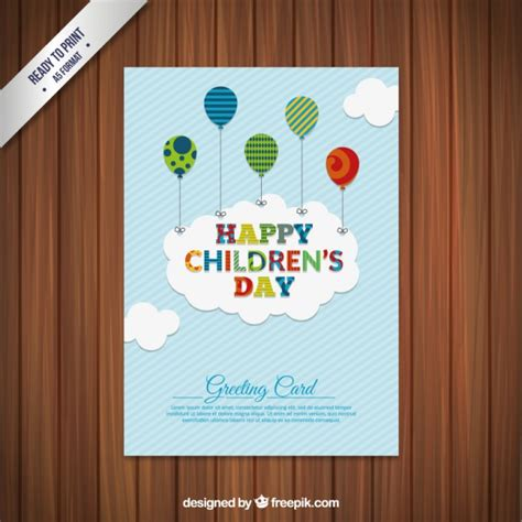 s day cards children s day greeting card vector premium