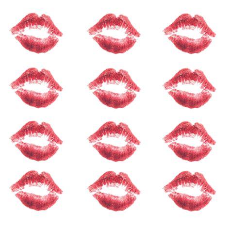 lip print kisses temporary tattoos