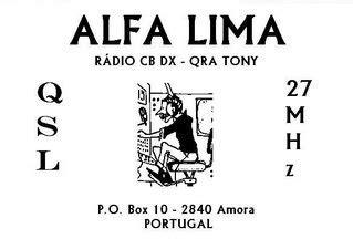 cb circuito qsl card equipment  cb circuito amora portugal