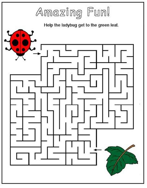 printable insect mazes 5 best images of autumn leaf maze printable printable