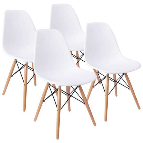 libro 100 midcentury chairs and furmax eames pre assembled mid century modern dining chair rank style