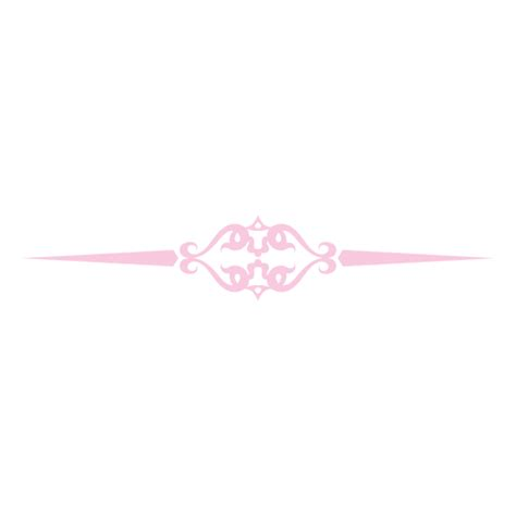 Transparant Pink Decorative pink decorative ornament divider transparent png svg vector