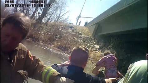 baby miraculously alive in car sunk in utah river cnn body camera video shows rescue of utah miracle baby lily