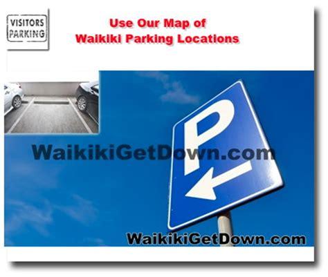 Waikiki Parking Garage by Waikiki Parking Locations Garages And Facilities Map