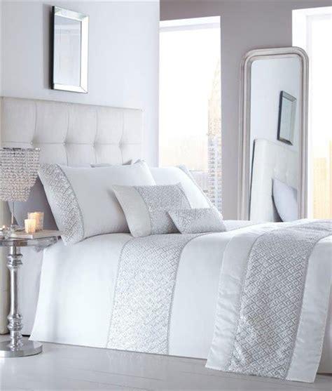 New Luxury Diamante Bedding Duvet Cover Bed Sets Duvet Set New White Silver Sequin Diamante Luxury