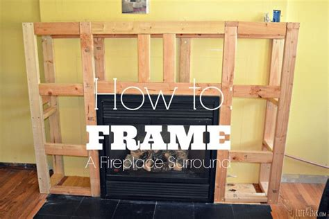 how to frame a fireplace surround tutorial fireplace