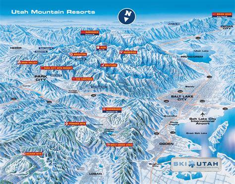 ski resort map usa ski utah predice un incremento 3 de esquiadores