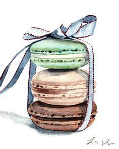 macarons laduree stack attache avec une par laurarowstudio