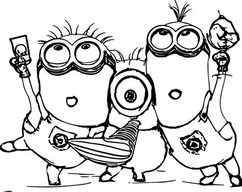 coloring page of a minion minion coloring pages best coloring pages for kids
