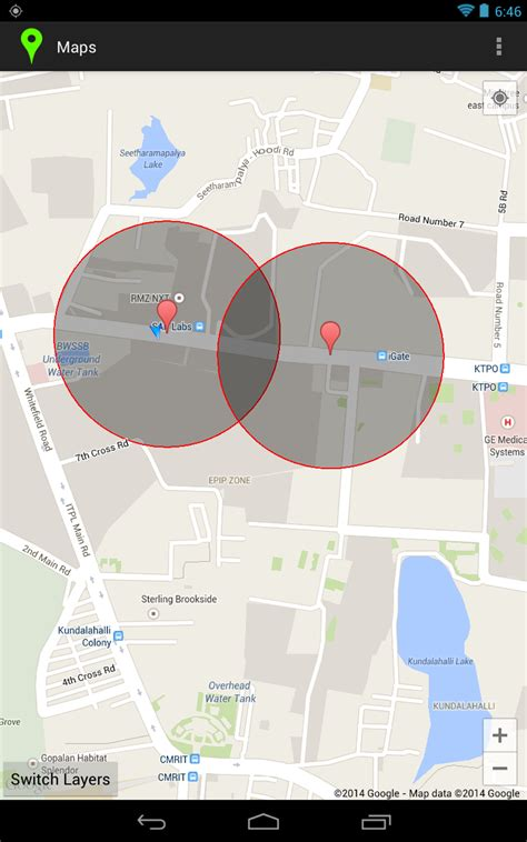 android handling geofences transition with common area stack overflow - Android Geofence