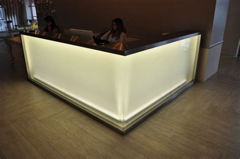 reception desk miami pipeline coral gables custom reception desk dash door
