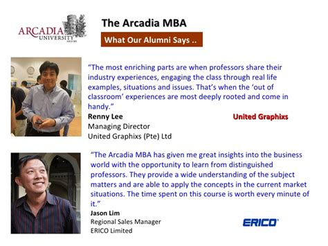 Admission Procedure For Mba In Singapore by Top Ranked Us Mba From Arcadia Pennsylvania In