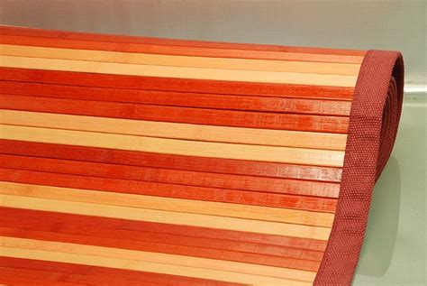 tappeto in bamboo tappeto bamb 217 60x100 cm rosso