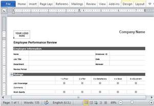 nu look home design employee reviews employee performance review form for word