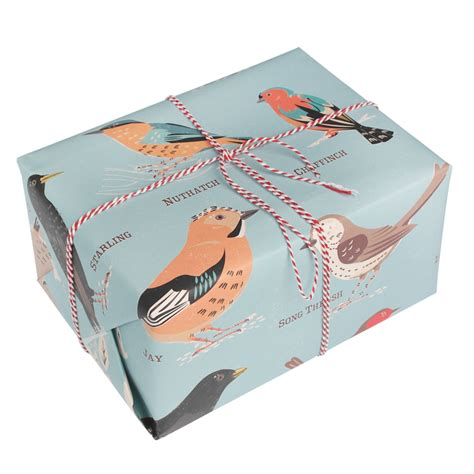 gift wrapping paper sheets garden birds wrapping paper 5 sheets dotcomgiftshop