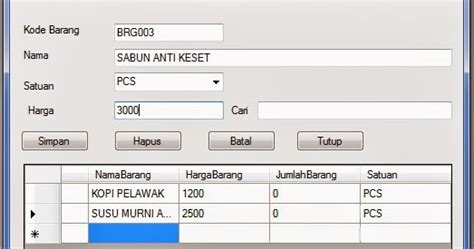 membuat form login vb 2010 dengan database access membuat form barang dengan visual basic 2010 pintar vb