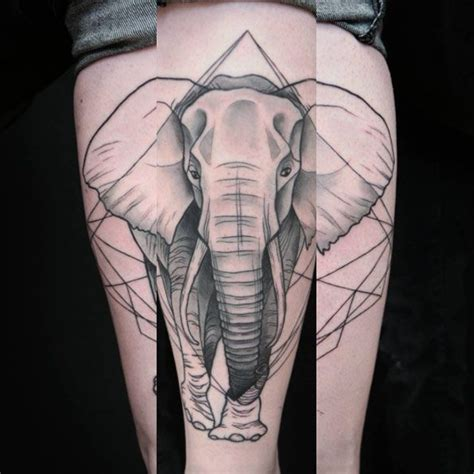 the 25 best ideas about geometric elephant tattoo on