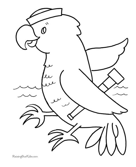 Free Printable Coloring Page 008 Preschool Printable Coloring Pages