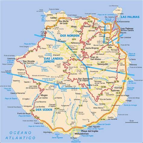 printable map gran canaria 220 bersichtskarte von gran canaria