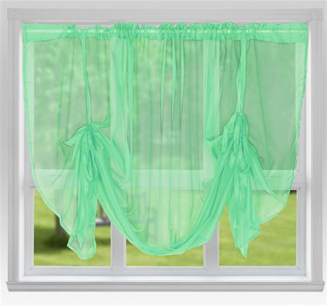 pastel green curtains voile panels tie blind pastel green