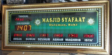 Jam Sholat Digital Bergaransi pusat jam digital masjid jadwal sholat abadi