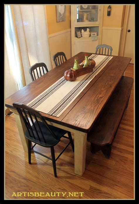 Farmhouse Kitchen Furniture Remodelaholic Build A Farmhouse Table For 100