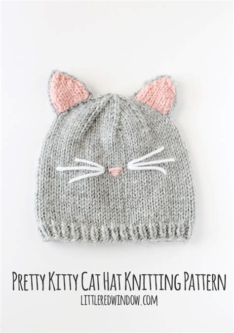knitted cat hat pretty cat hat knitting pattern cats