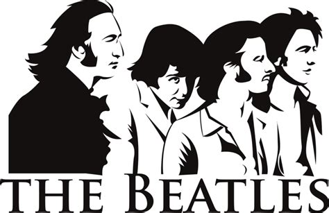 beatles silhouette pictures to pin on pinsdaddy