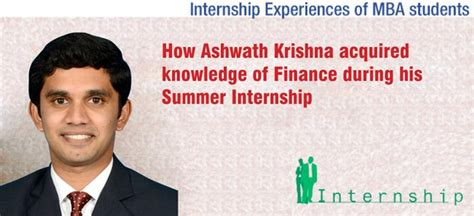 Ifmr Chennai Mba Fees by How Ashwath Krishna Acquired Knowledge Of Finance During