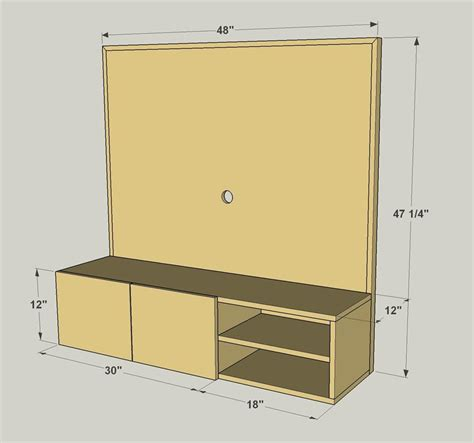wall mounted media cabinet buildsomething