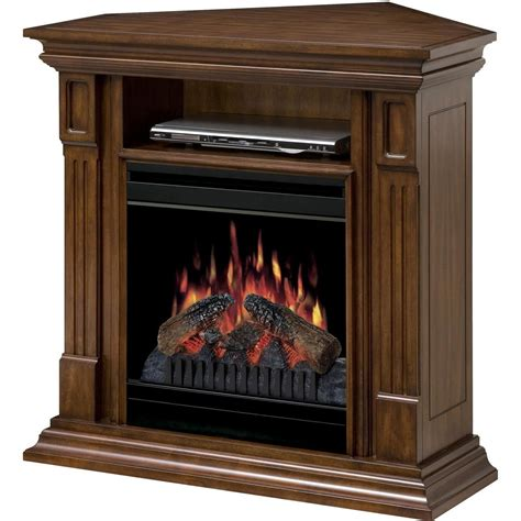 corner fireplace dimplex deerhurst 36 inch corner electric fireplace media console burnished walnut dfp20