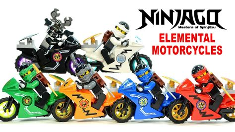 Lego Ninja Motorrad by Ninjago Elemental Motorcycles Shields Lego Knockoff