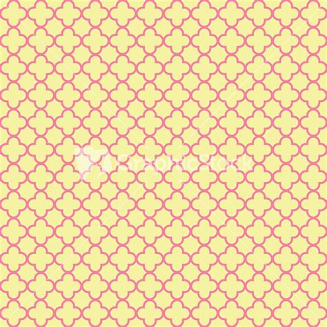 pink net pattern pink and yellow quatrefoil pattern
