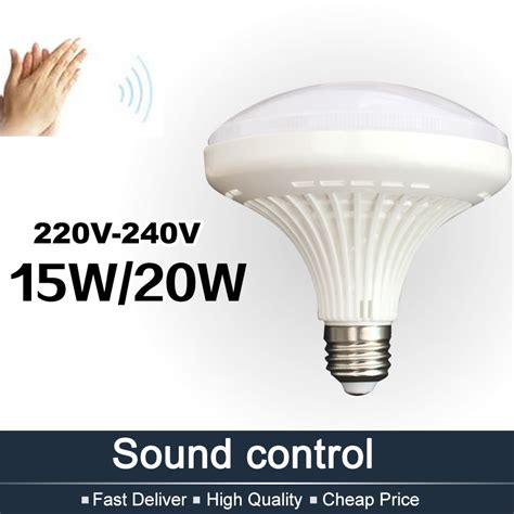 sound activated light switch aliexpress com buy 15w 20w sound control led light