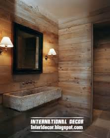 design wooden bathroom wall