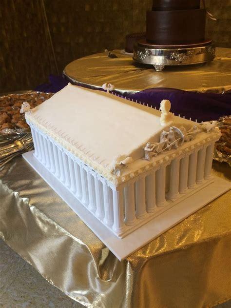 parthenon cake cakes   greek cake cake fashion cakes
