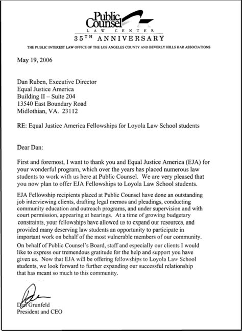 School Letter Of Continued Interest Equal Justice America