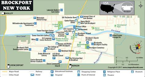 brockport map  village  monroe county  york usa
