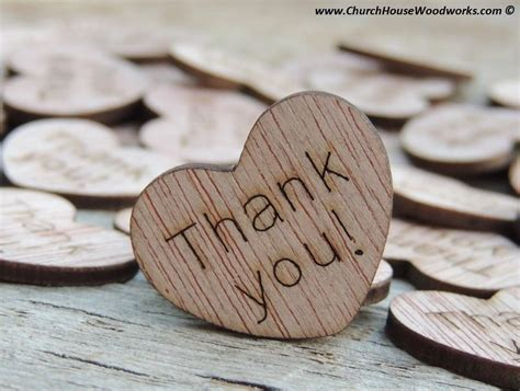Thank you! Wood Hearts   100 ct   1 inch ? Church House