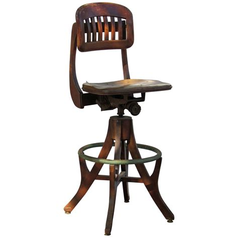Antique Drafting Stool by Antique American Industrial Drafting Stool At 1stdibs